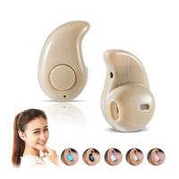 unsichtbares handy bluetooth großhandel-S530 Kopfhörer Stereo Licht Wireless Unsichtbarer Kopfhörer Mini Headset mit Antwort und Aufruf für Smart Handy Android