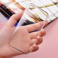 iphone transparent ultra ince toptan satış-Samsung s8 Clear PC Kılıfı İçin Yüksek Şeffaf Ultrathin Sert Koruyucu Kapak Kılıfları iphone 7 6 6s artı samsung galaxy s8 s7 s6 kenarlık note5