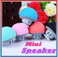 Wholesale Mini Speakers For Android Phone - Wireless Mini Bluetooth Speaker Portable Mushroom Waterproof Stereo Bluetooth Speaker For Android IOS PC for s7 edge