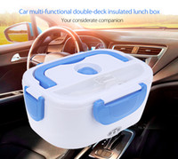 Wholesale Auto Car Electronics - 12V Car Auto Multi-functional Double-deck Insulated Electronic Lunch Box Heat Preservation Warm Keeping Integrated Type 197592701