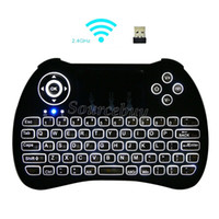 Wholesale mouse media desktop for sale - Group buy Portable mini keyboard H9 Fly Air Mouse Multi Media Remote Control Touchpad Handheld Wireless Keyboards For Android TV Box Smart Phone game