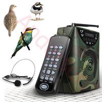 control remoto de mp3 de aves al por mayor-Al por mayor-65W Digital Hunting Bird Sound reproductor de MP3 que llama de caza Decoy + Control remoto inalámbrico + Bird sonidos