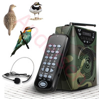 Wholesale birds mp3 remote control resale online - W Digital Hunting Bird Sound caller MP3 player Hunting Decoy Wireless remote control Bird sounds