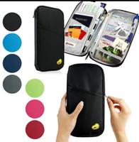 Wholesale Travel Documents Case - Travel Tour Passport Credit ID Card Cash Wallet Purse Holder Case Document Bag Zipper Travel Organiser Holder Wallet KKA2040