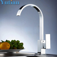 Wholesale Square Sinks - Wholesale- Free shipping ,Brass Quality Guarantee! kitchen sink tap ,kitchen mixer,square swivel Kitchen Faucets,torneira YT-6036