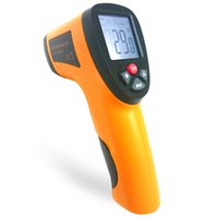 Wholesale Industry Devices - Infrared Thermometer Non-Contact IR Infrared Digital Temperature Thermometer Hand-held Temperature Measuring Device For Industry Home Use +B
