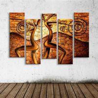 pinturas a óleo abstratas da lona mulheres venda por atacado-Pintura abstrata Graffiti óleo Figura Nu Pinturas Mulheres Acrílico Canvas Wallpaper Decoração Casa Moderna Wall Art 5 Painel Pictures