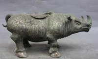 China Dynasty Bronze Cobre Silver-Gilt Ox Oxen Rhinoceros Incense Burner Censer