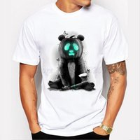 Camping Wandern T-Shirts New fashion animal design halloween panda kürbis kreative gedruckt herren maßgeschneiderte t-shirt casual grundlegende tops hipste