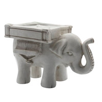 Wholesale Ivory Elephant Candle Holder - New Arrival Retro Lucky Elephant Tea Light Candle Holder Candlestick Wedding Favor Home Decor 6RXP