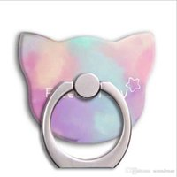 Cute Cat Metal Téléphone mobile Ring Ring Support General Cartoon Sangle de fixation en anneau Support pour téléphone portable IPhone Universal OPP BAG