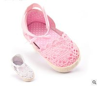Wholesale Newborn Baby Crochet Sandal - Baby shoes fashion Newborn kids crochet princess single shoes baby girls bows buckles breathable soft bottom toddler sandals fit 0-1T T3872
