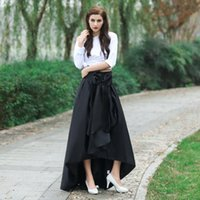 Wholesale Skirt For Young - Fashion High Low Skirts With Bow Black Real Image Party Skirts A-Line Ruffle Custom Made Beautiful Skirts For Young Girls 2017 New Arrival