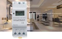 SINOTIMER Marca Microcomputer Electronic Programmable Digital TIMER SWITCH Tempo Relè Controllo 110 / 220V AC 16A Din Rail Mount + B
