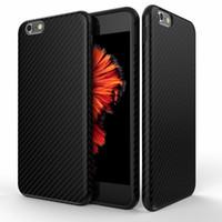 peles do iphone 6s venda por atacado-Mais novo ambiental de fibra de carbono case para iphone 6 6 s plus macio anti-skid anti-batida capa para iphone 7 / plus pele de couro