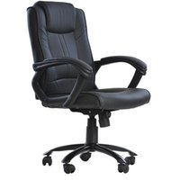 Wholesale Black PU Leather Ergonomic Office Executive Computer Desk Task Office Chair