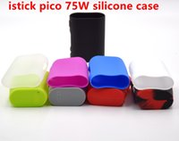 Wholesale silicone rubber boxes - istick pico 75W mod silicone case Colorful Rubber Sleeve Protective Cover Skin For eleaf istick pico 75w Box Mod Kit Vape Al85