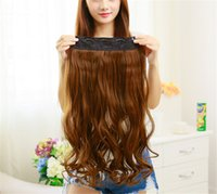 Wholesale f 24 - Z&F Clip On Hair Extension 24 INCH Hair Weft Extensions Loose Wave Curly For Black Women