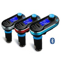 Car Kit FM Transmissor Smartphone Bluetooth MP3 Player Mãos livres 2.1A Dual USB Chargers Micro SD / TF Card Reader