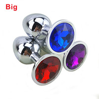 Wholesale Ass Plugs Jewelry - q0228 80 * 34 Medium Metal Anal Sex Toys For Woman & Man, Stainless Steel Enticing Jewelry Butt Plug. Large Ass Beads Products AS024M