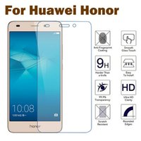 Wholesale Honor 3x - Wholesale- 9H Premium Screen Protector Tempered Glass for Huawei Honor 7 6 Plus 4C 4X 3X 3C Ascend P8 Lite Y6 4A Toughened Protective Film