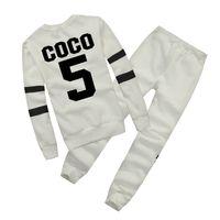 vestuário mulher inverno venda por atacado-Hot europa marca outono inverno moda mulheres camisola jogger esporte agasalho camisola de lã hoodies blusa plus calças terno
