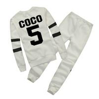 kış toptan satış-Sıcak Avrupa marka Sonbahar Kış Moda Kadınlar Kazak Jogging Yapan Spor Eşofman Polar Kazak Hoodies Bluz Artı Pantolon Suit