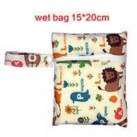Wholesale Messenger Diaper Bag Wholesale - Wholesale-10 Colors Reusable Waterproof Mini bags baby diaper bag Pouch For Menstrual Pads Nursing Pads Stroller Makeup Storage Bags
