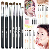 Wholesale Pony Material - High quality Cosmestic 100% Natural Animal Horse Pony Hair material Eye Makeup Brushes Makeup Brush Set
