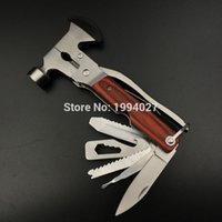 Wholesale Kits Axe - Wholesale-High quality outdoor combination kit multi-functional plier axe life-saving escape safety hammer window emperorship camping tool