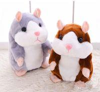Wholesale Toy Talking Repeat Hamster - Hot sale popular 15cm Talking Hamster Talk Sound Record Repeat Stuffed Plush Animal Kids Child Toy Talking Hamster Plush Toys