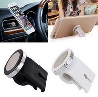 Wholesale Car Magnets Free Shipping - LIXUNTER 2017 NEW mini Modish Car Air Vent Magnet Phone Holder Mount Stand ABS + Alloy Material Magnetic for iPhone Phone GPS free shipping