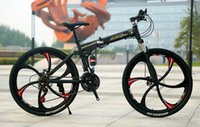 26 bisiklet tekerleği toptan satış-Açık 21 Hız yüksek yapılandırma 26 inç Iki diskli frenler Dağ Bisikletleri Üç diş tekerlek altı diş tekerlek
