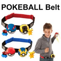Poke go Clip N Carry Poke Ball Belt Plastic 7cm pokeball + 70-120cm cinturón ajustable + 4-5cm Figuras de acción Pikachu Kids Toys 4 Style al por mayor