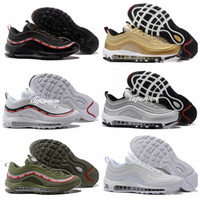 Wholesale 3m Reflective Shoe Laces - Air 97 3M REFLECTIVE OG UNDFTD UNDEFEATED BLACK SPEED BLUE GREEN speed red white Running Shoes Men Women Trainers Sport Shoes Size 36-46