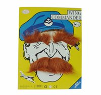 Wholesale Boys Fancy Dress Years - Wholesale-Fake Moustaches Self Adhesive Mustaches Fancy Dress Party Fun Rogue boy Newest New Arrival