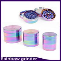 Wholesale parts fit for sale - Beautiful mm Rainbow Grinder Parts Grinder Zinc Alloy Tobacco Herb Grinder fit twisty glass blunt