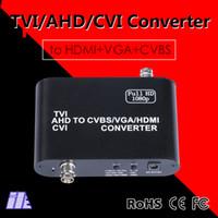 Wholesale Video Camera Converters - Newest 1080P HD TVI AHD CVI to CVBS VGA HDMI Video Converter for AHD Camera to HDTV support 1080p