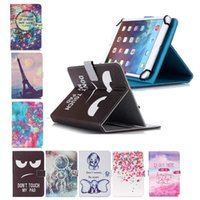 tour universelle achat en gros de-Black Eye Dont Touch My Pad Effile Tour 7 pouces 10 pouces Universal PU Portefeuille Folio Étui en cuir Tablette de protection Support étui pour tablette