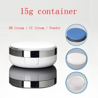 Wholesale wholesale glass powder container - 15g X 12 Empty BB cream CC cream white container , Powder sponge foundation case ,Cosmetic cream Jar,Puff Cosmetic Packaging