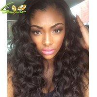 Wholesale Dyed Lace Wig - Lace Front Wig Loose Wave Hand Tied Malaysian Human Hair Lace Wig Dyed Glueless Full Lace Wigs Around Baby Hair Bleached Knots