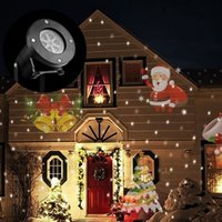 Wholesale Newest Rotating Projection Light Snowflake Spotlight Pattern Lens Christmas Star Led Projector Light Landscape Party Halloween Lamp