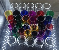 Wholesale Tfv4 Mini Kit - Replacement pyrex glass tube for Smok tfv4 mini nano tfv8 baby big tfv12 AL85 Alien EU Stick v8 kit vapen pen 22 plus