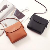 Wholesale Pu Leather Satchel Korean - 2017 new fashion trend handbags Korean version of the simple retro wild ladies casual bag shoulder bag Messenger bag