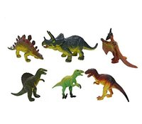 Wholesale 6PCS Dinosaur Tyrannosaurus Rex Stegosaurus Triceratops Animal Figures Educational Toy For Kids