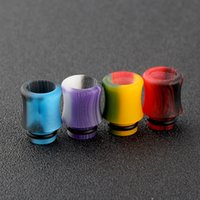 Mais recente 510 Acrílico Drip Dicas Wide Bore Drip Tip Embocaduras Colorful Atomizer Fit 510 Atomizers E Cigarette Free Ship