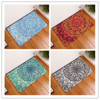 Square square bath - Shower Pad D Printing Geometry Flower Bath Mat PVC Water Uptake Mats Suction Shower Antiskid Pad Originality xra J R