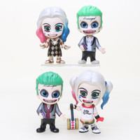 Wholesale Doll Scale - 2 pieces   set. Harley Quinn Joker 1 10 scale painted rice Dolls PVC Figurine Collection Model Toys 10 cm