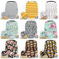 Wholesale Pram Covers - Baby Caps Stroller Cover Car Seat Canopy Shopping Cart Cover Hats Sleep Pushchair Case Pram Beanie Breastfeed Nursing Covers OOA2520