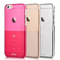 Custodia protettiva antisdrucciolevole in cristallo di Devia Crystal per iphone 6 / 6S 4,7 pollici Back Cover